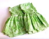 1970s Mod Twin Bedskirt ... Martex, Grass Green, Cindy Mufson Design, Cotton Blend