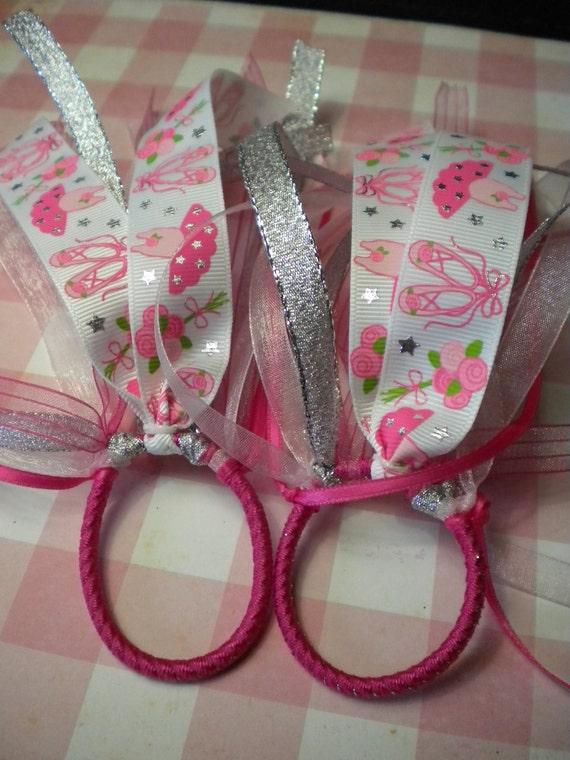 Ballet Ponytail Bow  -Ballerina Pony O - Last one