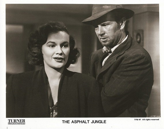 Vintage Movie Still - Print - The Asphalt Jungle - Photo - Film Noir - Sterling Hayden - Jean Hagen - 8 x 10