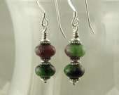 Ruby Zoisite Dangle Earrings