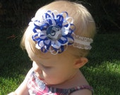 Indianapolis Colts Flower Loop Bow