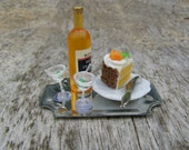 Orange and wine surprise dollhouse miniature