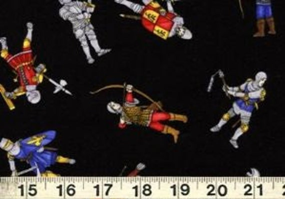 Medieval Soldiers Fabric