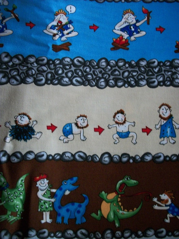 Etsy Caveman Signs : The funniest caveman cotton fabric sewing craft supplies