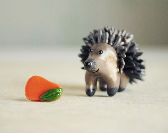 Hedgehog Ear Jackets fake gauges - woodland earrings, cute animal, fun earrings, gift for her girl ear studs jackets - made to order