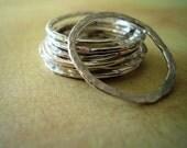 Sterling Silver 16ga handmade textured circles 14mm (10)