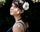 flower hair accessory, Magnolia Hair Clip, wedding flower clip