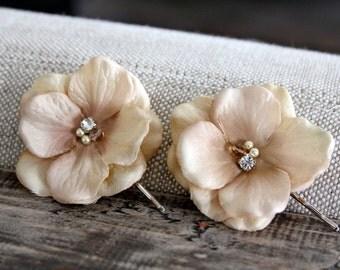 champagne hair pins, champagne hair accessory, bridal hair pin, Vintage hair pins