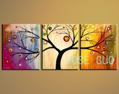 Original Modern Art Paintings tree (Free postage)