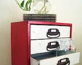 Hardware Storage Cabinet : Vintage Industrial 10 Drawer Metal File Cabinet