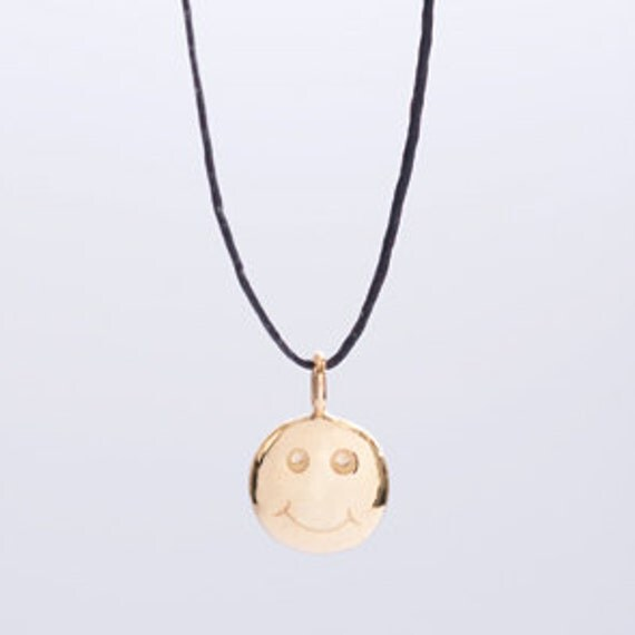 JOY- symbol necklace or bracelet- handmade gold plated silver pendant on leather cord