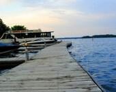 Dock At Dusk - Fine Art Print - Professional Photography - Leech Lake - Minnesota - Hiawatha Beach Resort