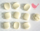 Vintage buttons - 10 off white buttons