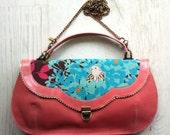 SALE - Pixi purse - Pink leather