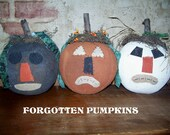 Primitive Folk Art Forgotten Pumpkins