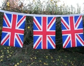 Union Jack Bunting in red white and blue