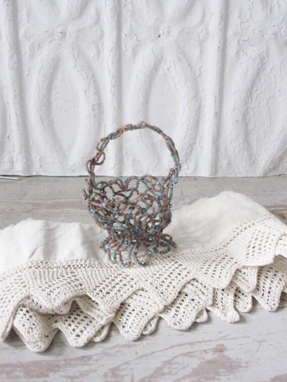 Small Beaded Basket