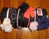 Handmade Headband Holder for shelf or wall