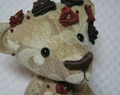 Hilda a Beautiful Jointed Velour Ribbon Rose Vintage style Artist Bear by Bramber Bears