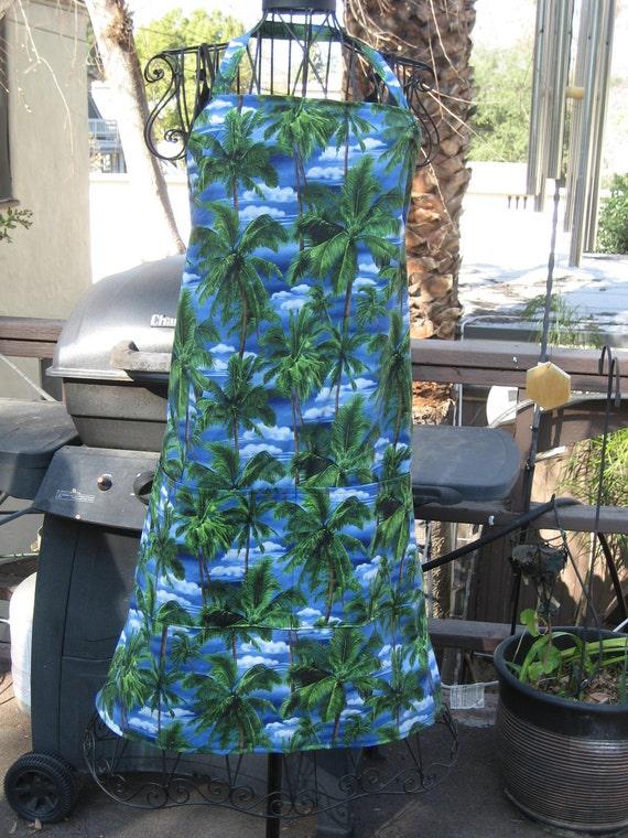 Tropical BBQ Apron Palm Trees   33T X 30W     item 302