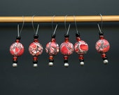Knitting Stitch Markers, Howlite Semi-Precious Stones, Large Size, Snag Free, Jeweled Tool, Knitting Accessory Supplies, Handmade, Gift
