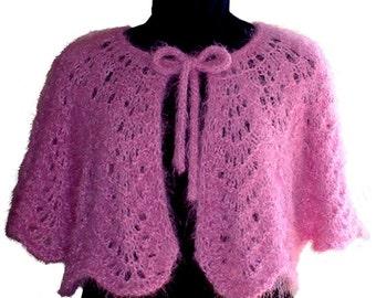Knitting Pattern, Hand Knitting, Capelet, Feather Fan Lace, Knitting Pattern PDF, Written Row by Row, Elegant Styling, Digital Download