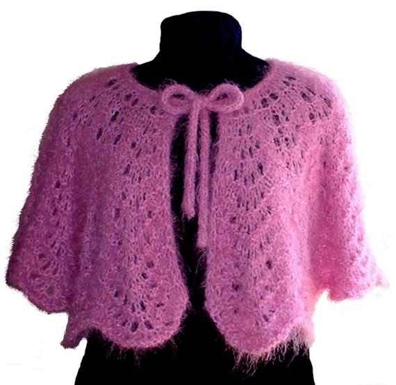 Knitting Pattern Feather And Fan Lace : Knitting Pattern Hand Knitting Capelet Feather Fan Lace