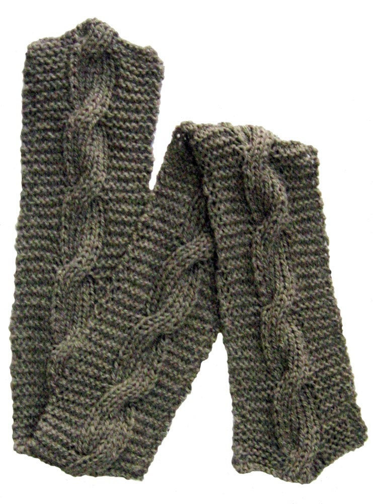 Knitting Pattern Tracker : Hand Knitting Pattern Cabled Scarf Reversible Cable Any