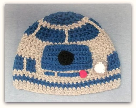 R2d2 Hat Knitting Pattern : Items similar to Grey robot beanie hat inspired by R2D2 Please provide size. ...
