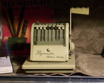Vintage Pay Master Check Writer