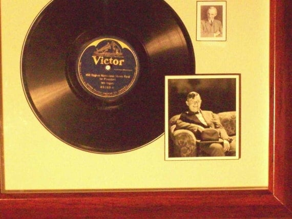 Will Rogers Recording Framed