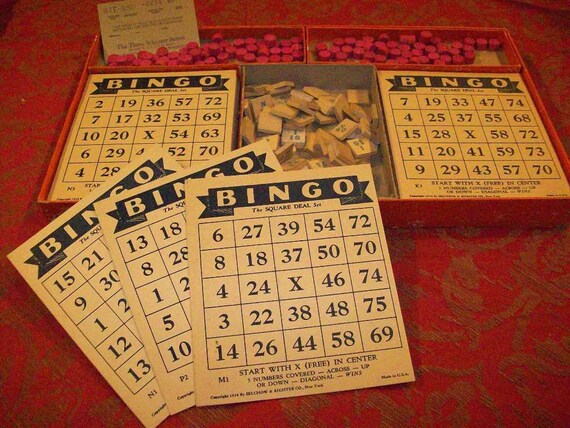 Bingo Set by Selchow & Righter 1937