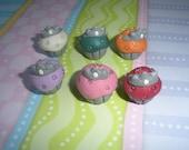 Princess Tiara Cupcake (Polymer Clay Pendant)