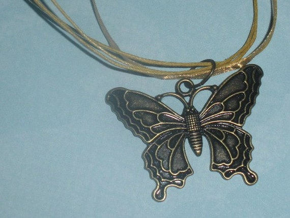 Butterfly Organza Ribbon Necklace