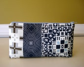 Cosmetic Bag. Pouch. Makeup Bag. Travel Organizer. Ready To Ship. Vacation.  Cotton.  YKK Zipper. Bridal Gift.