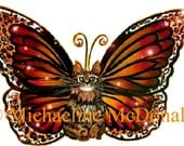 Butterfly Fairy Cat Temporary Tattoo by Michaeline