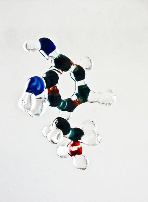 Dopamine Lampworked Molecule Model