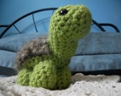 The Inquisitive Turtle- Amigurumi, Crochet, Stuffed, Awkwardly Fuzzy Turtle (FREE SHIPPING IN U.S.)