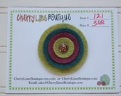 Layered Felt Circles Hair Clip - Item 121