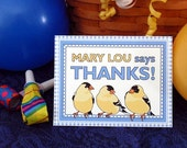 Birds Thank You Notes (8 in a package)