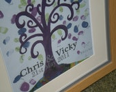 WEDDING TREE: Wedding Fingerprint Tree PDF  - Guest Book Alternative - Printable and personalised