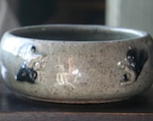 Small Aikido Bowl with Kanji and Iconic Figures