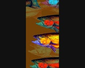 TROUT and SALMON Fish Art Print from Original Painting by Dean Crouser