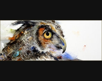 OWL Fine Art Signed Greeting Cards by Dean Crouser