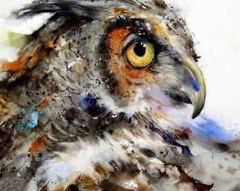 OWL Colorful 4 x 4 Ceramic Tile Coaster Set