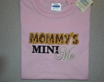 Mommy's Mini Me Bling embroidered t shirt