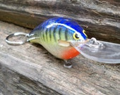Vintage Fishing Lure Keychain from a Bagley's vintage lure