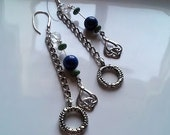 CIAO Vintage Blue Moon Chain Earring