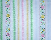 vintage fabric fat quarter - sweet flowers and stripes