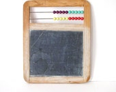Vintage Chalkboard- Counting Toy Bright Beads Abacus School Play Toy